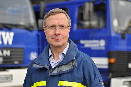 """""""Kommunikation ist einer der wichtigsten Punkte im THW"""", sagt THW-Bundessprecher Frank Schulze. (Quelle: THW/ Ina Kortenjann)"""