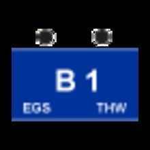 """Taktisches Zeichen """"1. Bergungsgruppe mit EGS"""" (B1-EGS)"""
