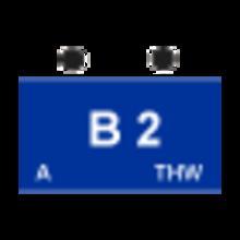 """Taktisches Zeichen """"2. Bergungsgruppe Typ A"""" (B2-A)"""