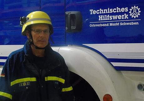 Sorgt für Sicherheit: Herbert Hönig aus dem THW-Ortsverband Markt Schwaben. (Quelle: THW)